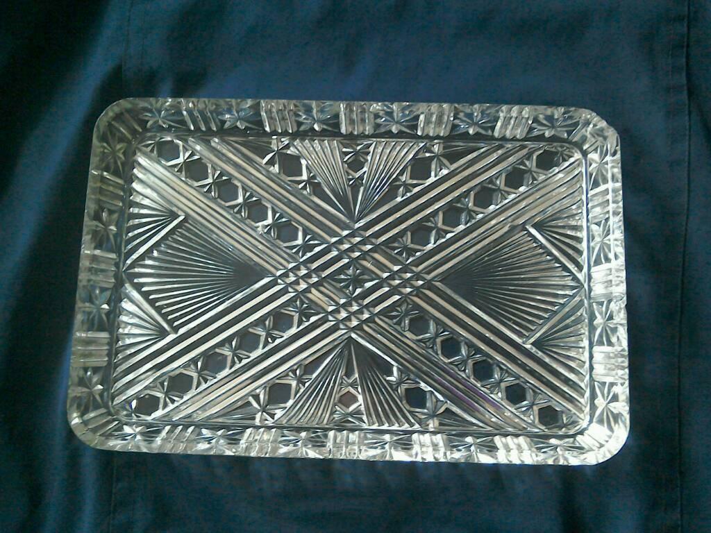 Lead crystal tray