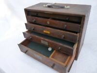 Beautiful Antique Vintage French style solid wood tool chest / box