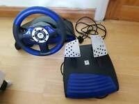 PlayStation Speedster 3 steering wheel with pedals