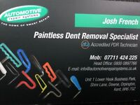 Paintless dent removal covering kent/Essex