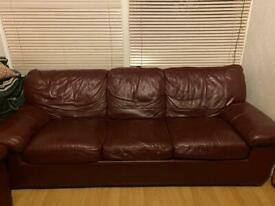 DFS 2 seater and 3 seater sofa bed..