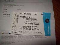 stone roses ticket hampden park glasgow