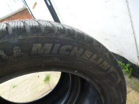 2X WINTER MICHELIN APLIN TYRES 225/50/16