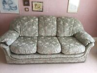 Settee converts to double bed and one chair