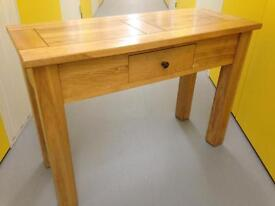 Solid Oak Chunky Farmhouse Console table / Sideboard by HALO Chest Drawers Furniture Sutton