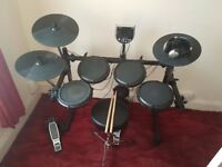 Alesis DM6 + headphone, amp, stool and sticks