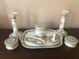 Antique dressing table set