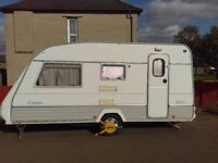 Europa 450 C Caravan 4 berth double bed and bunks awning good condition original hitch stabiliser