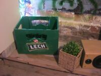 BEER CRATES- COLLECTABLE (SEE EBAY!), VERSATILE, STRONG, STYLISH.
