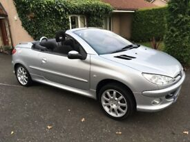 Bargain!!..2007 Peugeot 206cc convertible Sport 1.6...Only 36300mls From New!! 10 Service Stamps!!