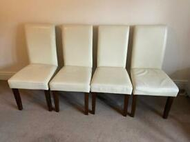 4 leather dinning chairs