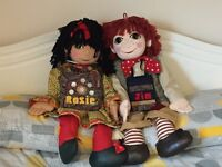 "Rosie and Jim collectable dolls, large 30"" excellent condition"