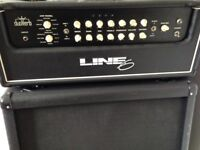 Line 6 Duoverb amp and Marshal cabinet