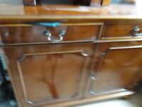 Shapes Yew sideboard and small units