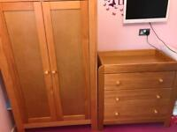 Baby/Childs Mama and Papas Wardrobe, changer/drawers.