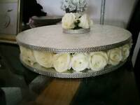 Beautiful wedding cake stand and topper