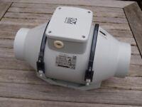 Vortice in-line extract fan model 17021 Lineo 100 T Ducted Fan two fan speeds