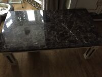 "Marble coffee table - excellent condition 51""x31""x17"""