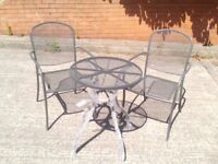 NEW Garden Table Chair Steel Mesh New Cheap Dining Outdoor Furniture Blackpool Lancashire