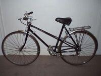 "Ladies Lightweight Reynolds 531 Classic Raleigh Richmond 21"" Commuter/Town Bike (will deliver)"