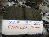 MATCHING PAIR 265 35 20 pirelli p-zeros 6mm tread £100 PAIR SUP & fittd 7dys opn sunday 4pm