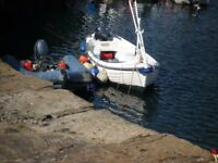 Arran 16 for sale with Yamaha 8hp four stroke outboard and trailer