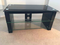 TV stand for Sale - Black glass