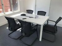 rectangle office meeting table white boardroom conference