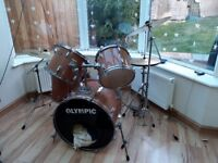 Olympic drum kit with cymbols