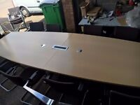 office furniture 3.6 meter maple boardroom table with cable management