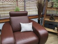 Nicolette leather large single armchair