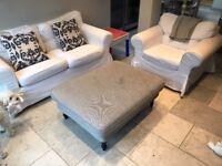 Ikea Ektorp sofas and ottoman