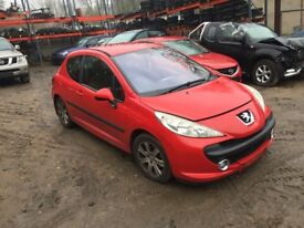 Peugeot 207 1.6 HDi Sport 5 speed manual 3dr (06 - 08) red (kknb) breaking for parts