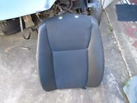 SAAB 9-3 03-10 RIGHT FRONT DRIVERS SEAT HALF LEATHER BACK BASE CUSHION BLACK