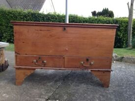 Beautiful Old vintage antique solid wood Bedding Chest, Blanket Chest