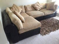 An impressive large corner sofa that can be changed to either a left or right L shape.