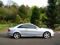 2008 MERCEDES BENZ CLK 220 CDI AMG SPORT **1 P/OWNER - FULL MB HISTORY - ONLY 55,000 MILES**