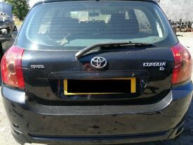 Toyota Corolla 2005 Black - For parts only!