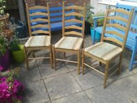 3 dining chairs, free to collector