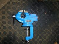 """bench vice with 2"""" jaw and rotating base"""