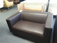BROWN LEATHER 2 SEATER AND 2.5 SEATER SOFA CAN DELIVER