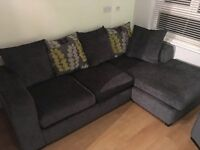 Corner Sofa, pouffe and arm chair suite