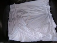 Equinox DJ Booth replacement white lycra cloth.