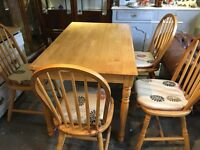 Ikea solid pine table and chairs