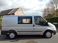 FINANCE ME!! NO VAT!! Ford Transit 260 FWD 2.2 TDCI 115 SWB 6 Seat Crew Van, ONLY 87k!