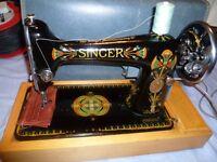 66K Singer semi industrial sewing machine