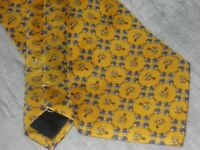 Silk Tie, Quality & New, Made in Italy - Yellow Equestrian Theme - Lovely Christmas Gift, New