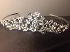 Diamanté and crystal tiara