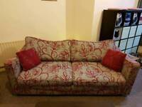 4 piece suite!! Sofa, 2 Chairs and Foot Stool