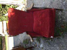 Low Victorian bedroom/nursing armchair